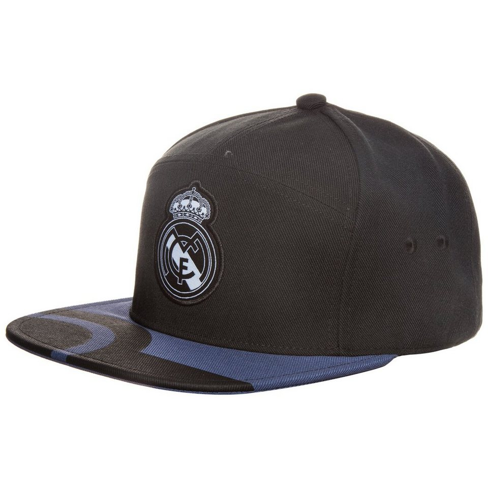 adidas Performance Real Madrid Anthem Snapback Cap in schwarz / lila