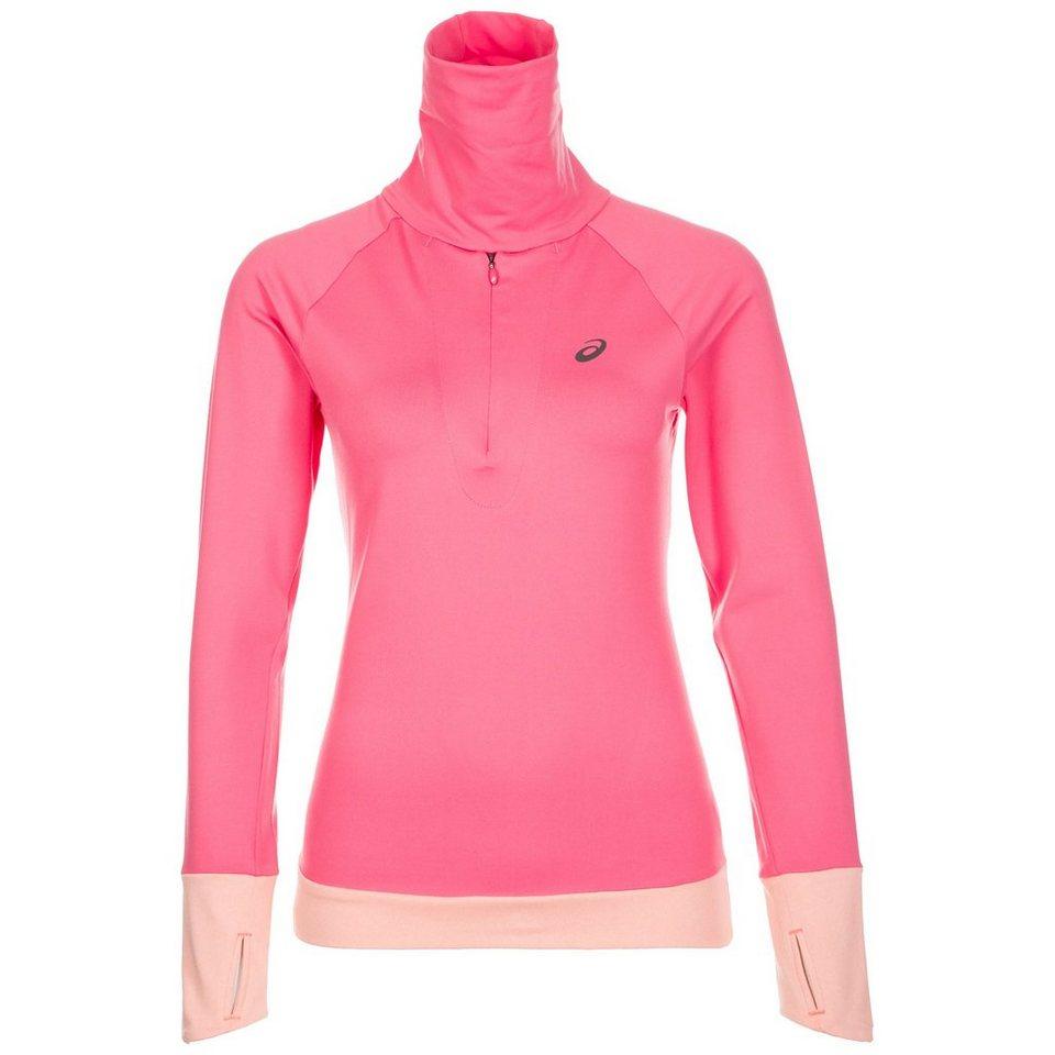 ASICS Thermopolis 1/2 Zip Laufshirt Damen in pink / rosa