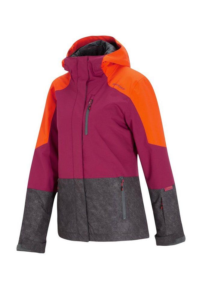 Ziener Jacke »TABLICA lady (jacket ski)« in grey dark washed
