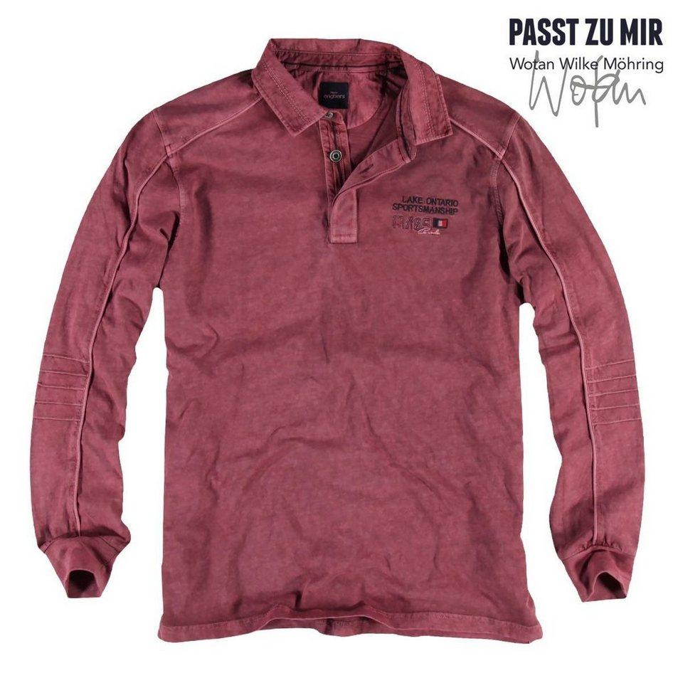 engbers Poloshirt langarm in Weinrot