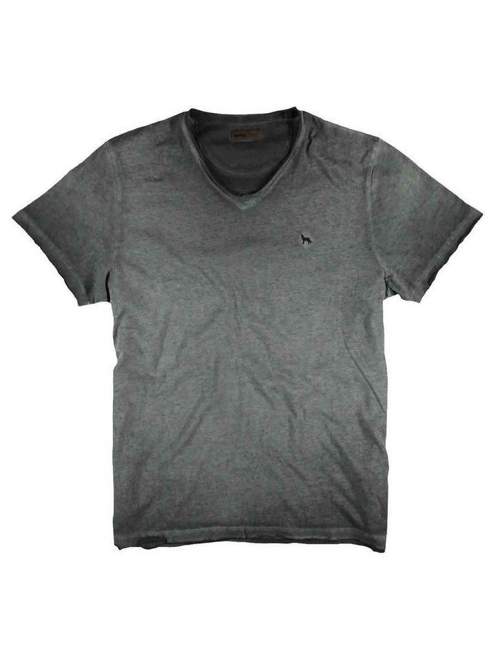 emilio adani V-Neck T-Shirt in Blassbraun