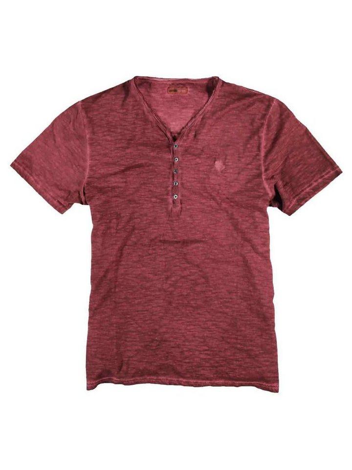 emilio adani Henley T-Shirt in Blutrot