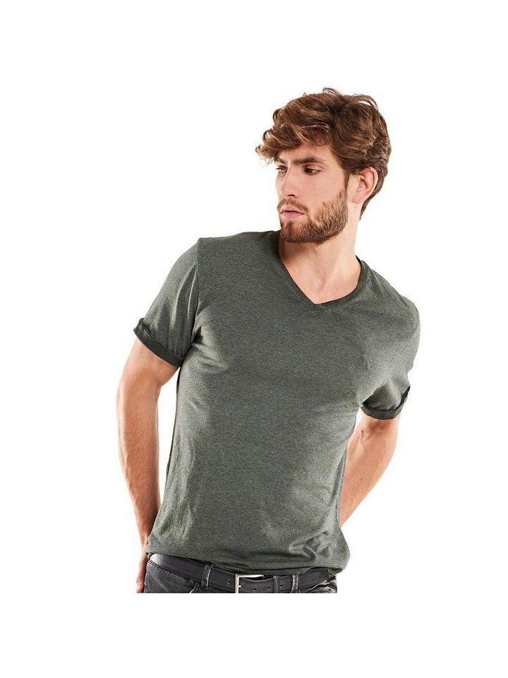 emilio adani V-Neck T-Shirt in Signalgrün