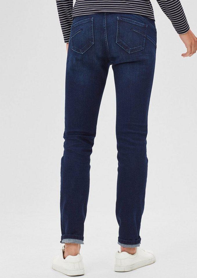 s.Oliver BLACK LABEL Schmale Jeans mit Shaping-Effekt in blue denim stretch