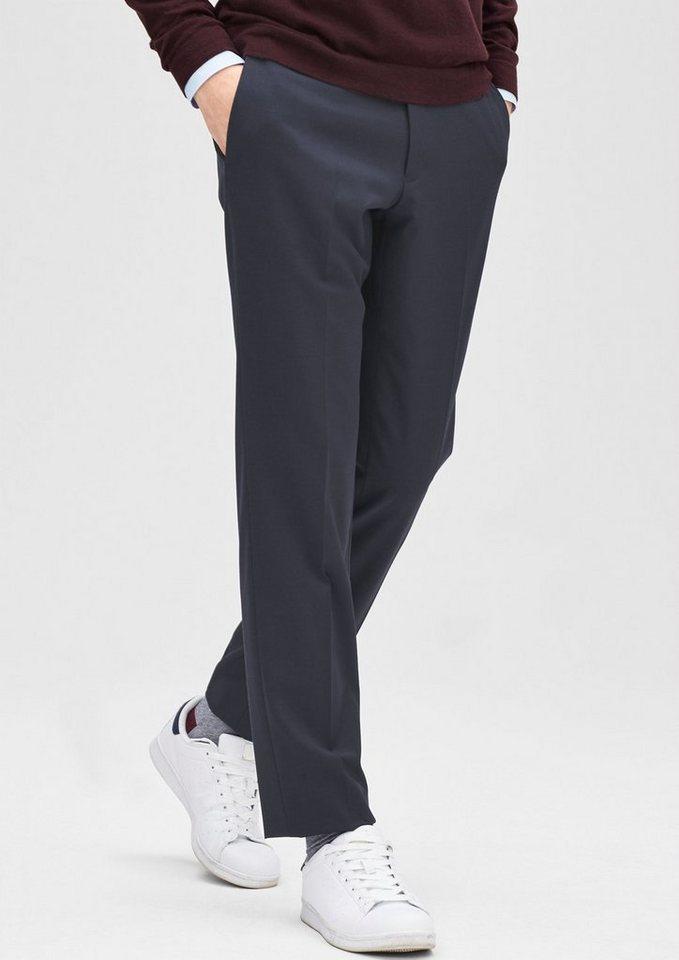 s.Oliver BLACK LABEL Slim: Hose mit tonigen Streifen in night blue