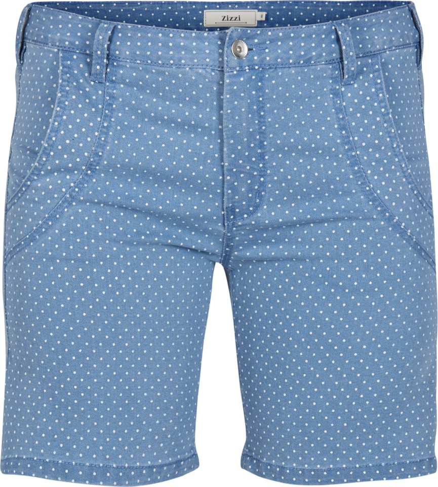 Zizzi Shorts in Light blue denim