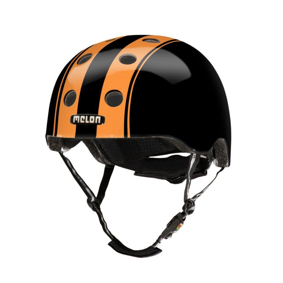 Melon Helm »Stripe Tease Collection - Double (XXS-S) glänzend« in Schwarz-Orange