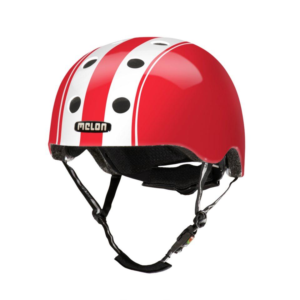 Melon Helm »Stripe Tease Collection - Double (M-L) glänzend« in Rot-Weiß