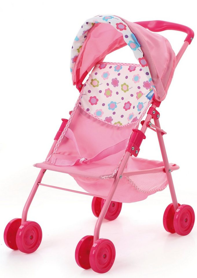 hauck TOYS FOR KIDS Puppenwagen, »Traveller Sun, Spring Pink« in rosa