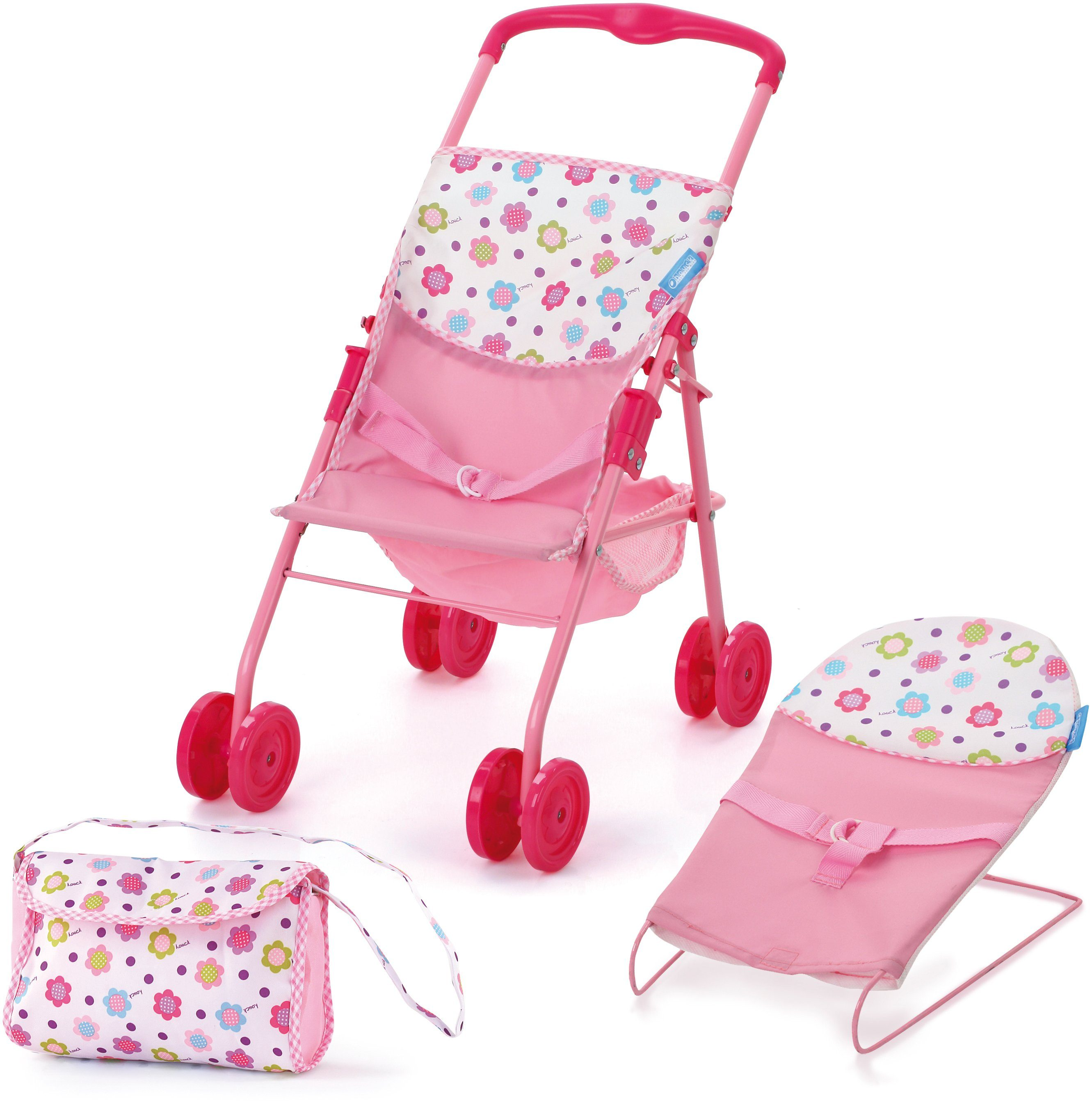 hauck TOYS FOR KIDS Puppen-Set 3tlg., »Travel and Care Set, Sping Pink«