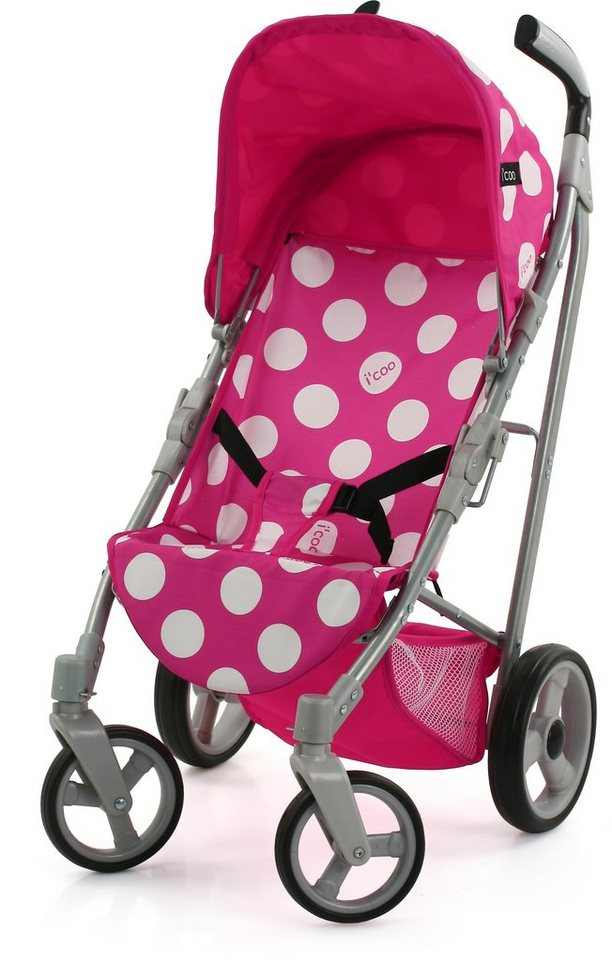 hauck TOYS FOR KIDS Puppenbuggy, »i'coo Pluto, Dotty Pink« in rosa