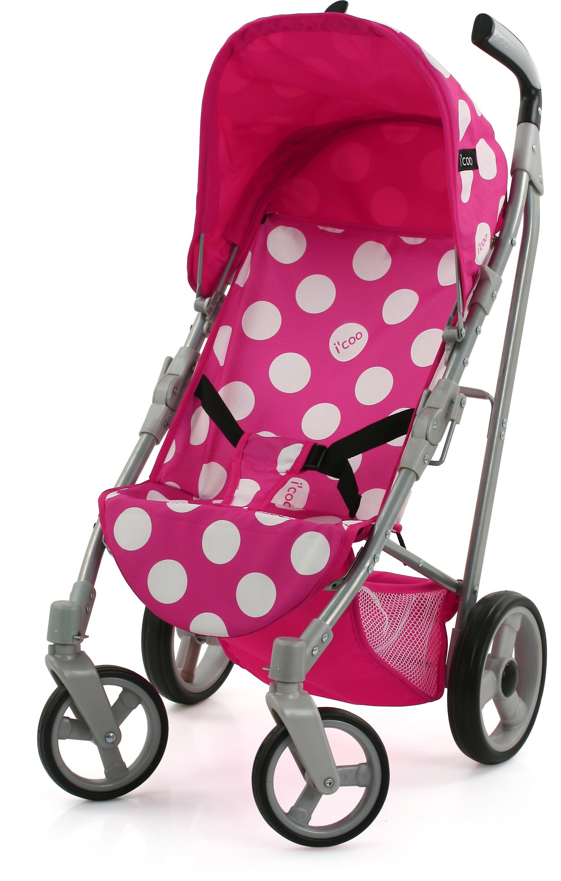hauck TOYS FOR KIDS Puppenbuggy, »i'coo Pluto, Dotty Pink«