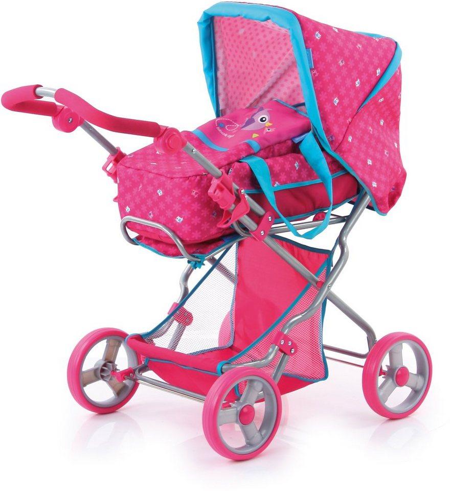 hauck toys for kids puppenwagen julia birdie pink. Black Bedroom Furniture Sets. Home Design Ideas