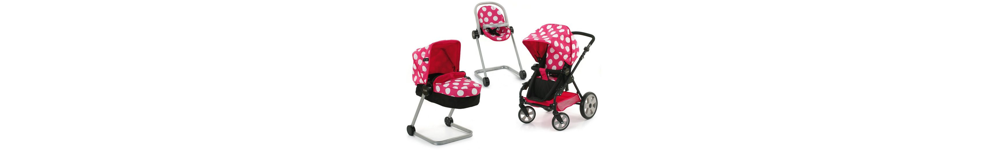 hauck TOYS FOR KIDS Puppenwagen-Set 4tlg., »i'coo Grow with me Set, Dotty Pink«