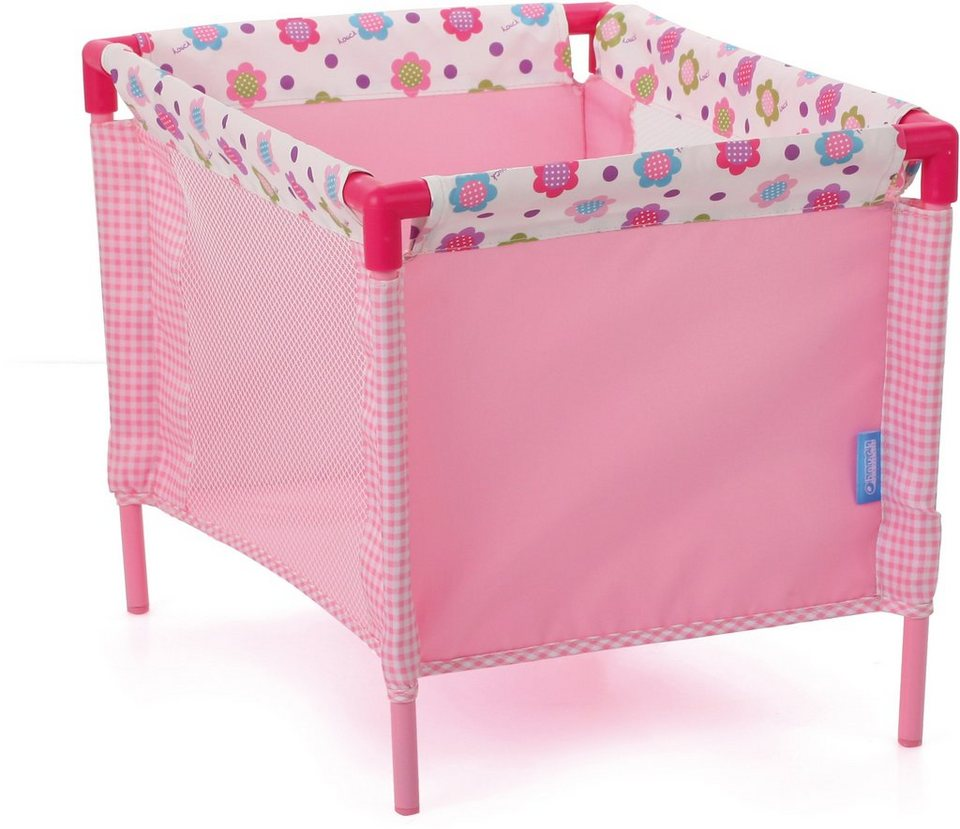 hauck TOYS FOR KIDS Puppenreisebett inkl. Tragetasche, »Play Yard, Spring Pink« in rosa