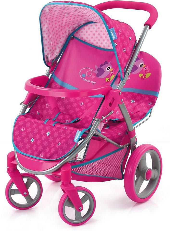hauck TOYS FOR KIDS Puppenwagen, »Malibu Duo, Birdie Pink« in rosa