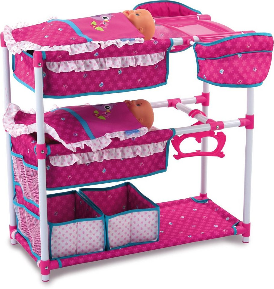 hauck TOYS FOR KIDS Puppenspielstation, »Twin Doll Station, Birdie Pink« in rosa