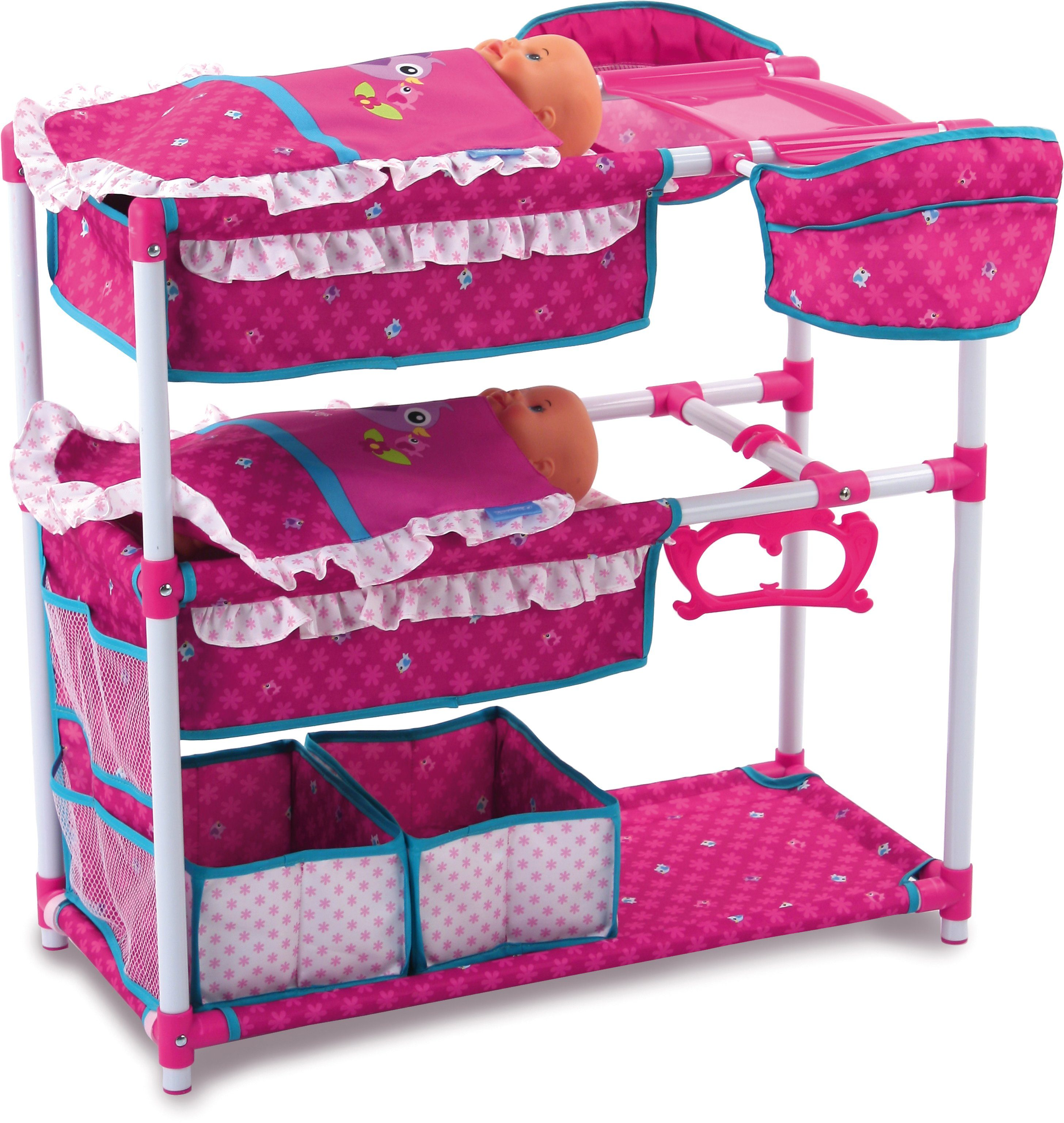 hauck TOYS FOR KIDS Puppenspielstation, »Twin Doll Station, Birdie Pink«