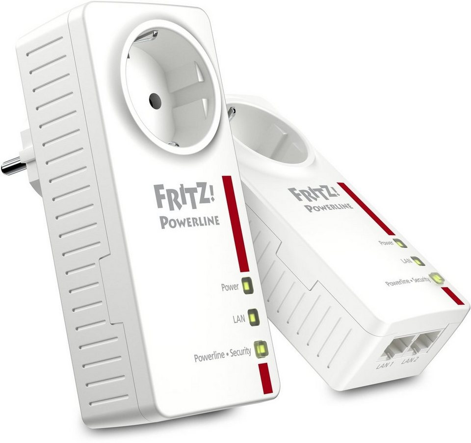 AVM Powerline »FRITZ!Powerline 1220E Set 1200 MBit (2x LAN)« in Weiß