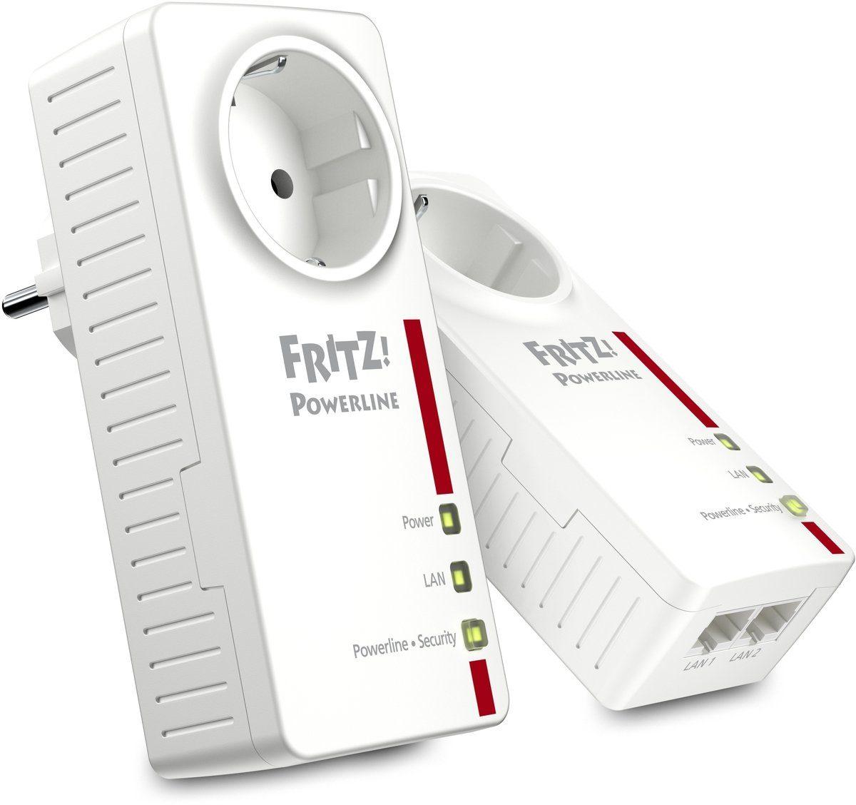 AVM Powerline »FRITZ!Powerline 1220E Set 1200 MBit (2x LAN)«