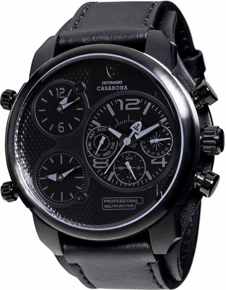 Detomaso Multifunktionsuhr »CASABONA, DT2018-E« in schwarz