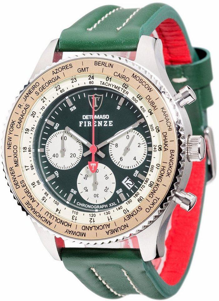 Detomaso Chronograph »FIRENZE, DT1045-B« in grün