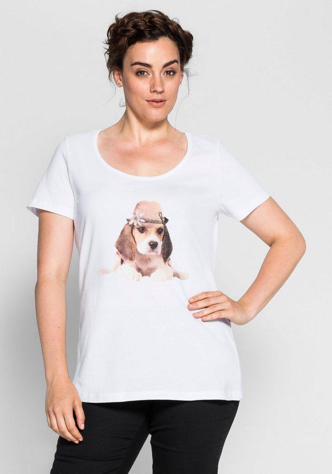 sheego Style Süßes Trachtenshirt in weiß