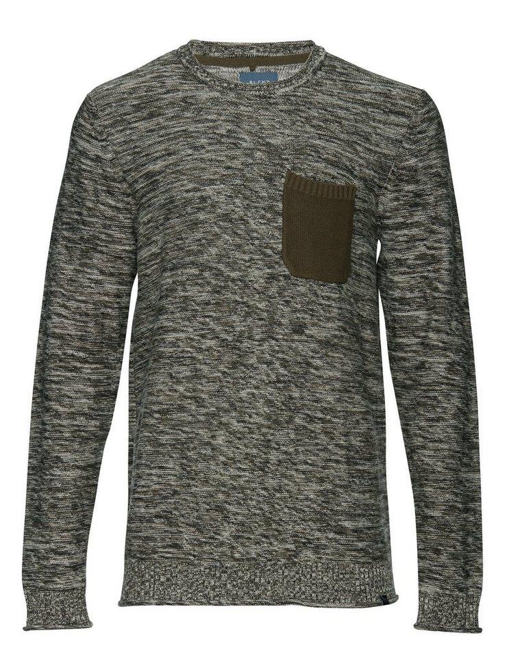 Blend Slim fit, Schmale Form, Pullover in Grün