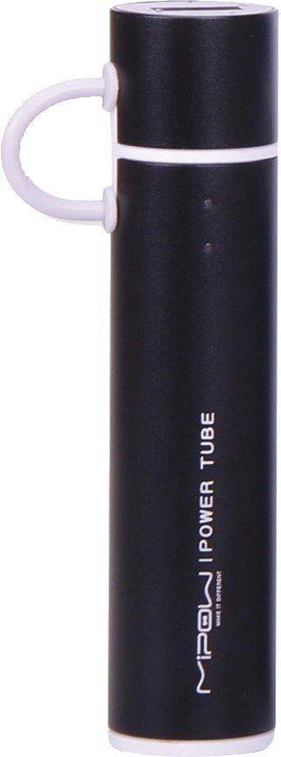 MiPow Handliche Powerbank mit integriertem Micro-USB Stecker »Powertube« in schwarz
