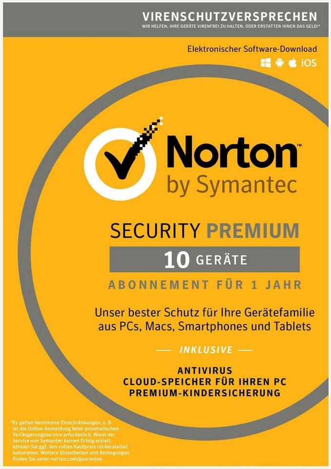 Norton Sicherheitssoftware »Security Premium (10 Benutzer)« in gelb