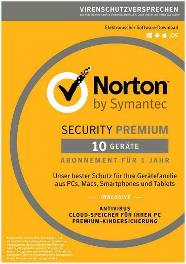 Norton Norton Security Premium Antivirus Software 2018 »Internet Security für bis zu 10 Geräte«
