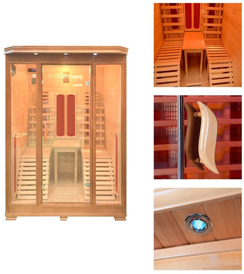 Home Deluxe Infrarotkabine »Maui«, 150/150/190 cm, 40 mm, für bis zu 2 Personen in natur