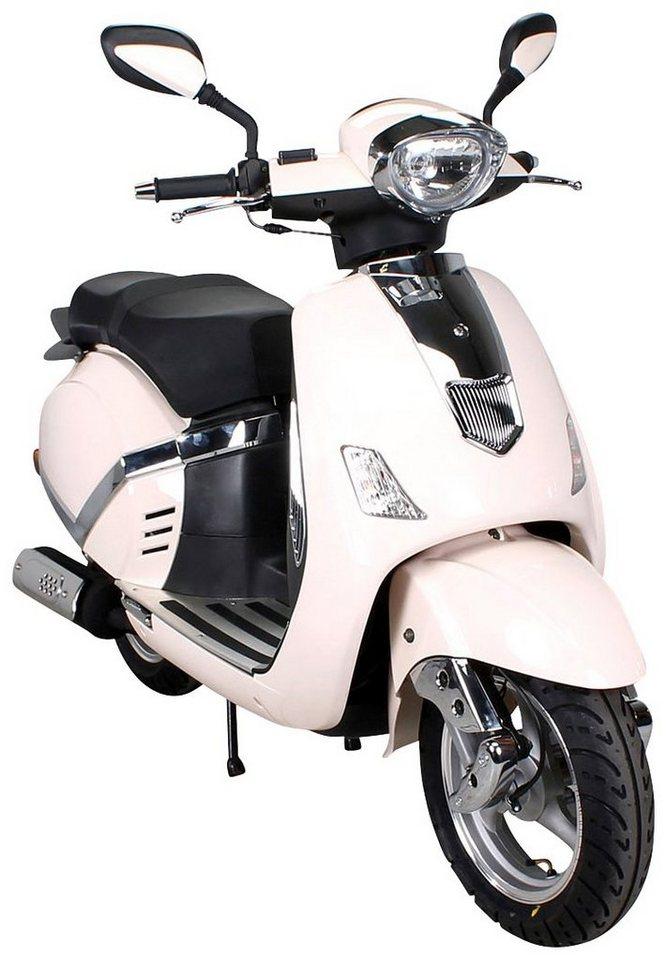 Motorroller »F8 Retro«, 50 ccm, 45 km/h in natur