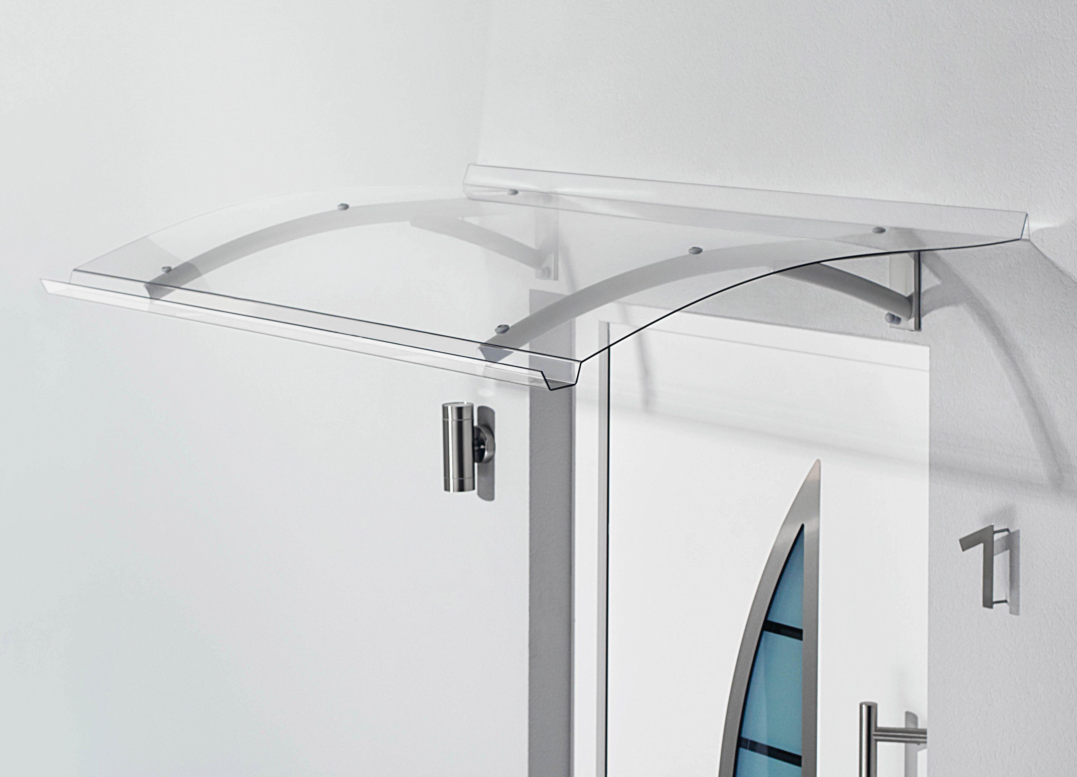 Pultvordach »TYP PT SECCO«, 150x90x22 cm, silberfarben-transparent