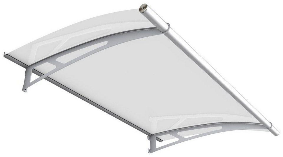 Pultvordach »Edelstahl«, 150x95x17 cm, silberfarben-weiß satiniert in silberfarben