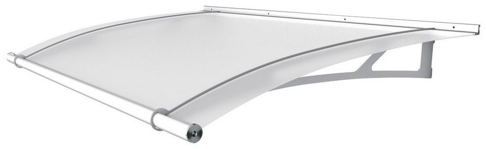Pultvordach »LW«, 150x95x17 cm, weiß satiniert in weiß