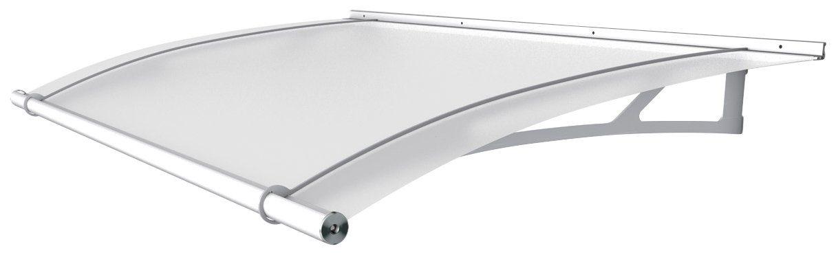 Pultvordach »LW«, 150x95x17 cm, weiß satiniert