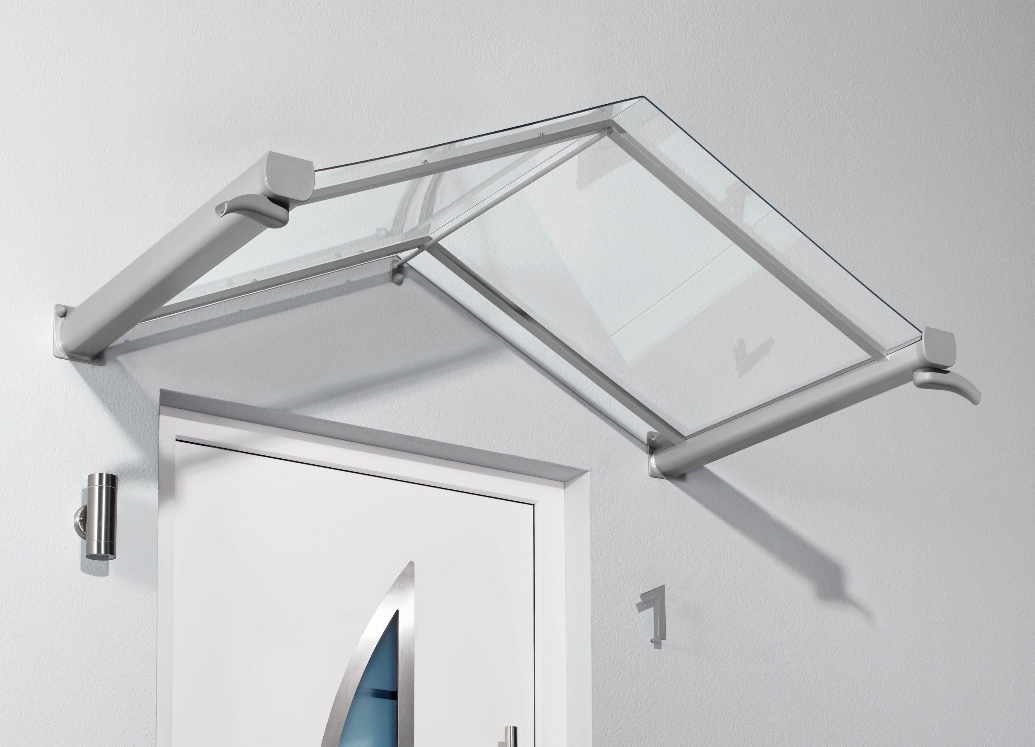 Gutta Vordach »TYP GV/T«, 200x90x40 cm, silberfarben-transparent   Baumarkt > Modernisieren und Baün > Vordächer   Transparent   GUTTA