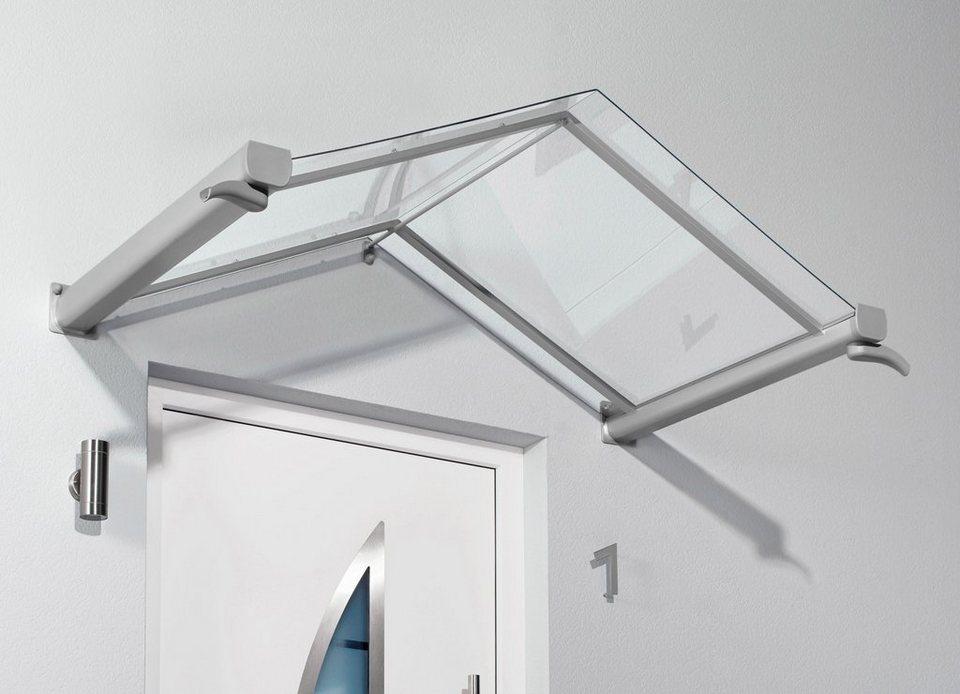 Vordach »TYP GV/T«, 200x90x40 cm, silberfarben-transparent in silberfarben