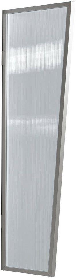Seitenblende »B2 PC klar«, BxH: 60x175 cm, silberfarben/transparent in silberfarben
