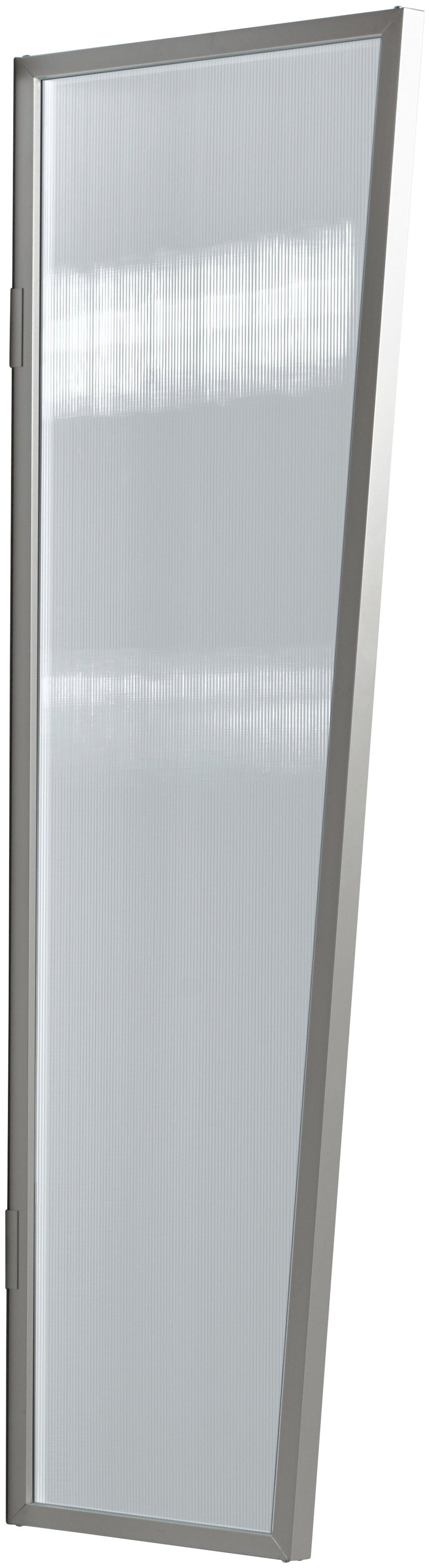 Seitenblende »B2 PC klar«, BxH: 60x175 cm, silberfarben/transparent
