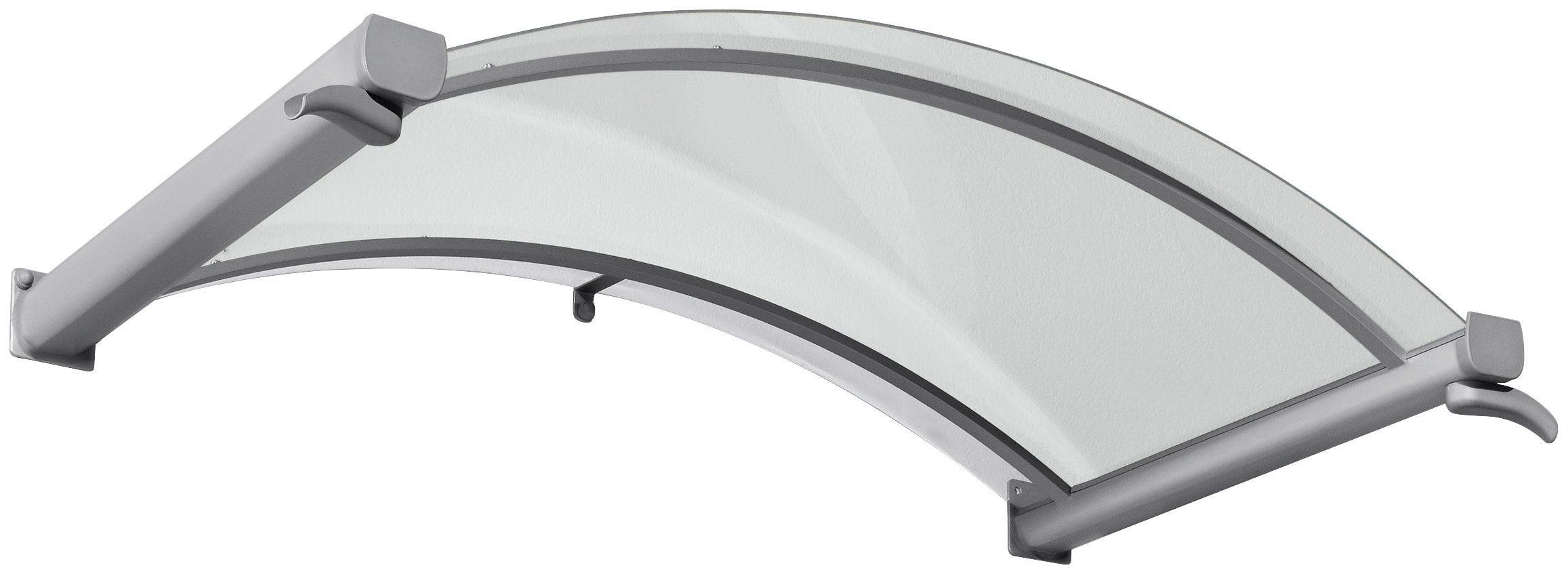 Gutta Bogenvordach »TYP BV/B«, 160x90x30 cm, silberfarben-transparent