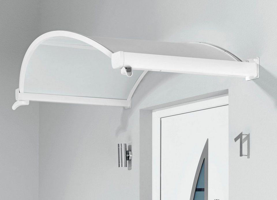 Vordach »TYP OV/B«, 200x90x30 cm, opak in weiß