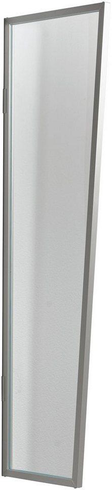 Seitenblende »B1 Acryl«, BxH: 60x200 cm, silberfarben/transparent in silberfarben