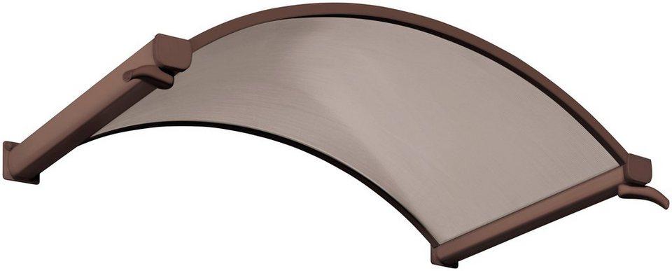 Rundbogenvordach, 160x90x30 cm, braun in braun