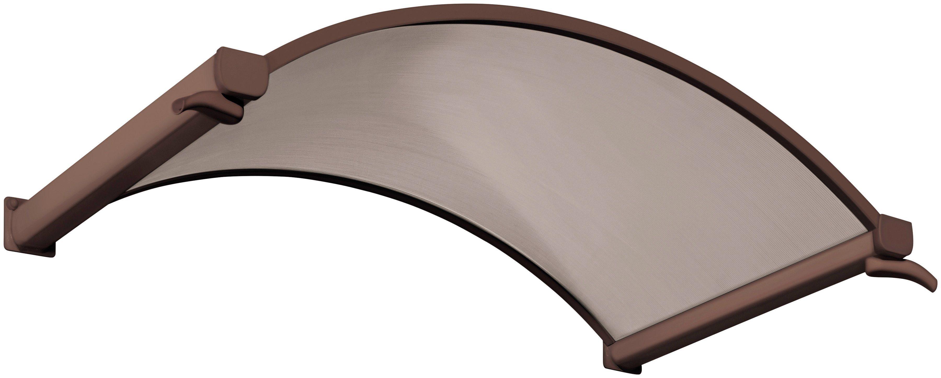 Rundbogenvordach, 160x90x30 cm, braun