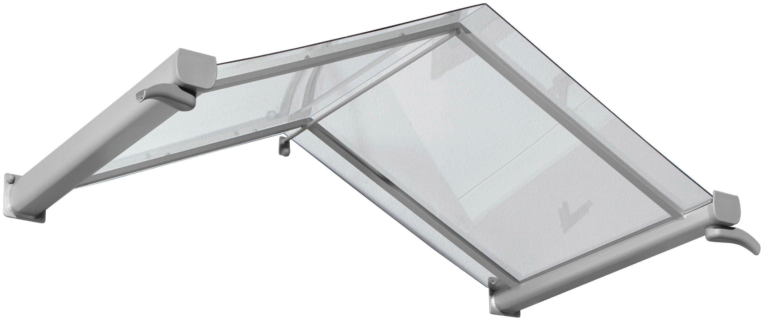 Gutta Vordach »TYP GV/T«, 160x90x40 cm, silberfarben-transparent