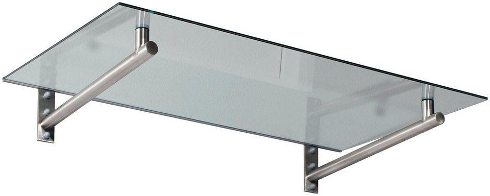 Vordach »HD 140«, 140x80x19,5 cm, silberfarben-transparent in silberfarben