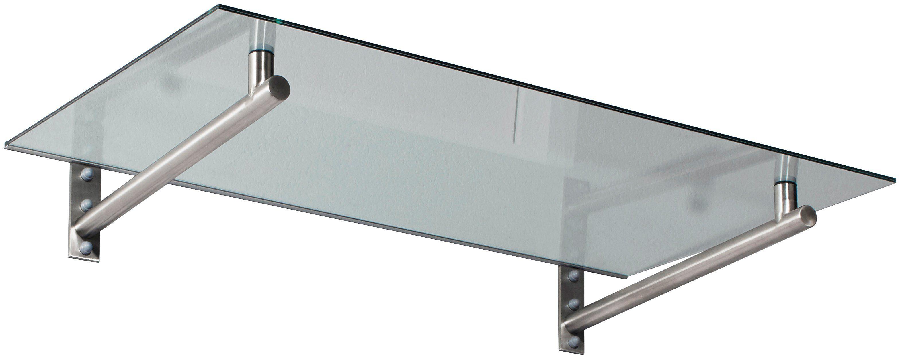 Vordach »HD 140«, 140x80x19,5 cm, silberfarben-transparent