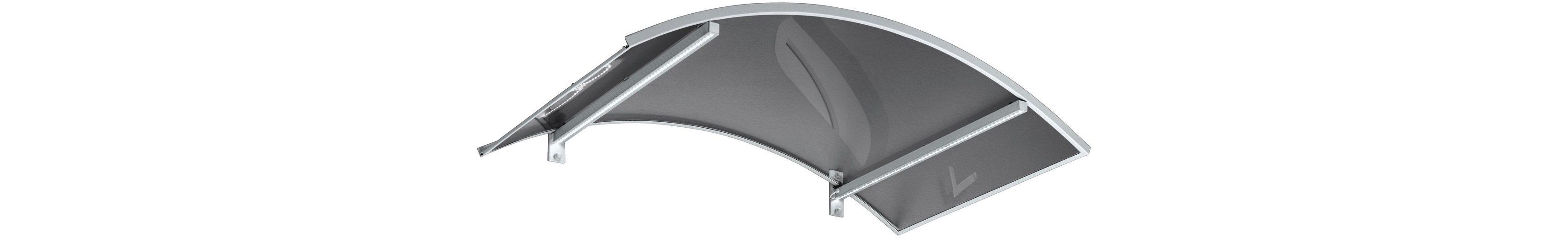 Pultvordach »LED-Technik«, 150x90x22 cm, weiß-transparent